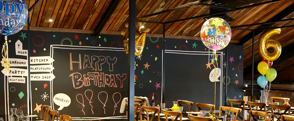 Mezz Setup kids birthday party